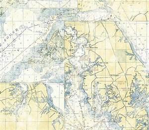 White Nautical Map Wallpaper