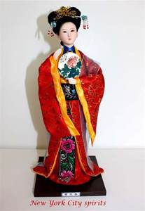 Traditional Chinese Art Silk Figurine Doll Statue-Jia Yuanchun