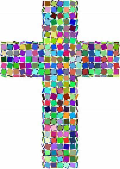 Cross Clipart Mosaic Stained Glass Transparent Clip