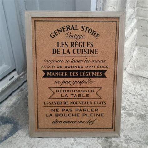 tableau pense bete pour cuisine tableau mémo les règles de la cuisine cadeau maestro