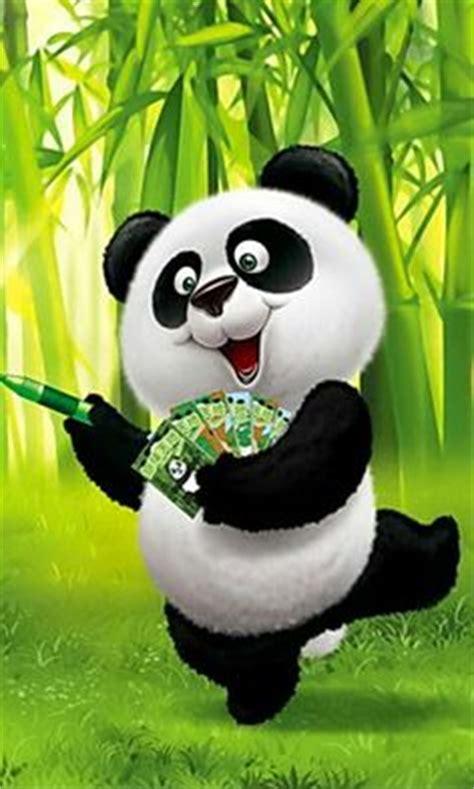 cute cartoon pandas  big eyes  draw   draw