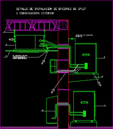installation of air conditioning dwg block for autocad designs cad