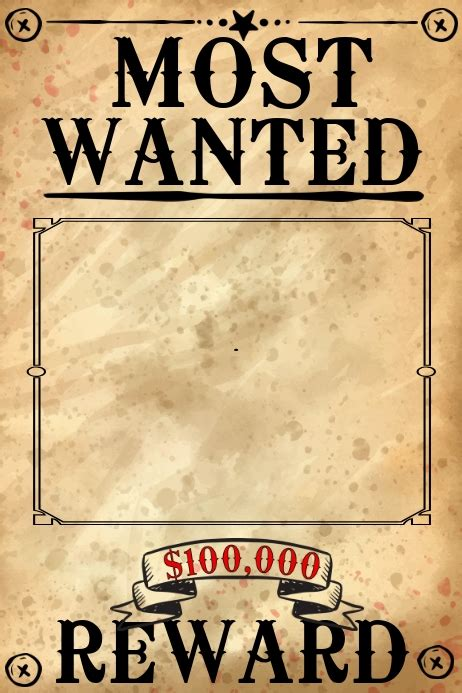 Blank Wanted Poster Template | PosterMyWall