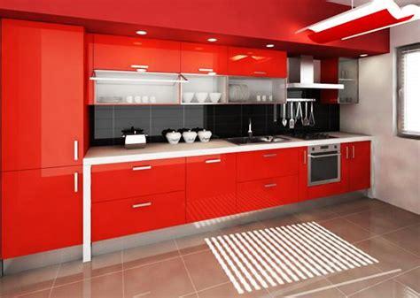 red color  revolutionize small kitchen design