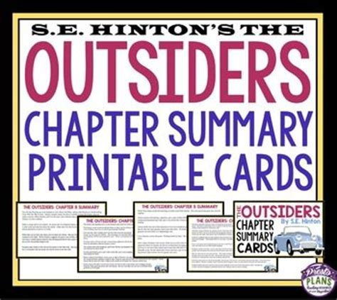 The Outsiders Notes Chapter 7 by 17 Best Images About Presto Plans Resources On