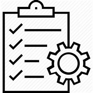 Clipboard, cog, project, project management, task icon ...