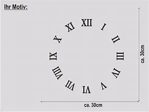 Römische Zahlen Uhr : wanduhr r mische zahlen designer bahnhofsuhr wandtattoo wandaufkleber uhr neu ebay ~ Orissabook.com Haus und Dekorationen