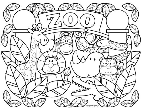 zoo coloring pages printable   stephen joseph gifts zoo coloring pages coloring