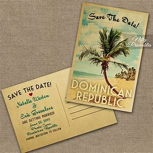 dominican republic save the date postcards vtw nifty With destination wedding invitations dominican republic
