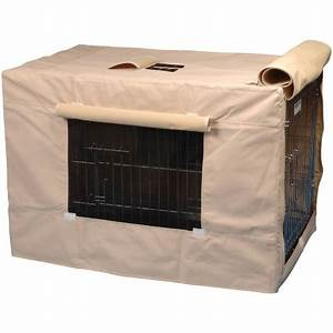 Precision pet indoor outdoor crate cover tan by for Outdoor dog crate cover