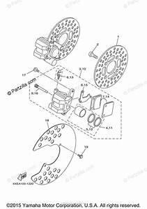 Yamaha Atv 2003 Oem Parts Diagram For Front Brake