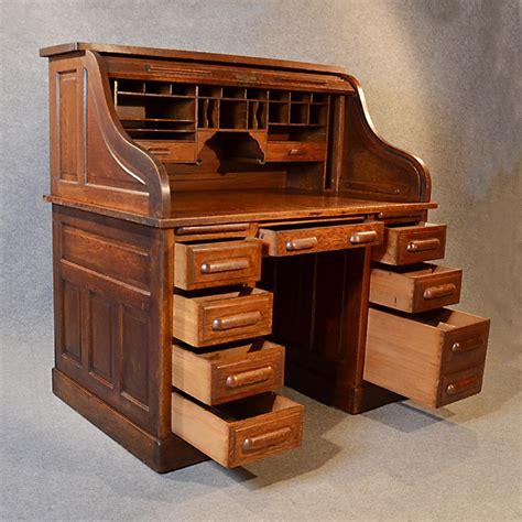 top bureau antique roll top writing bureau desk oak edwardian globe