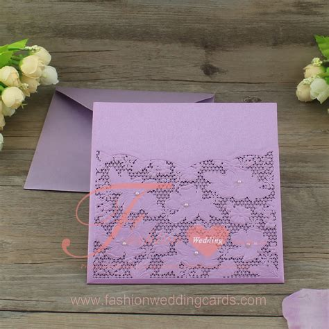 laser cut wedding invitations melbourne lilac