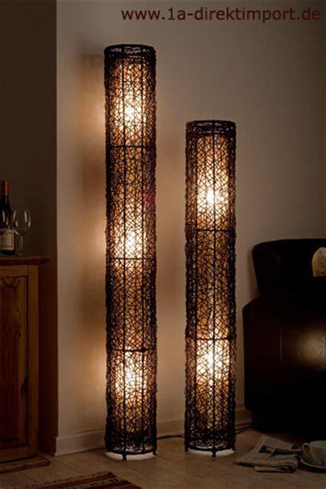 Exklusive Stehlampe neu, Rattanlampen Stehlampen Lampen