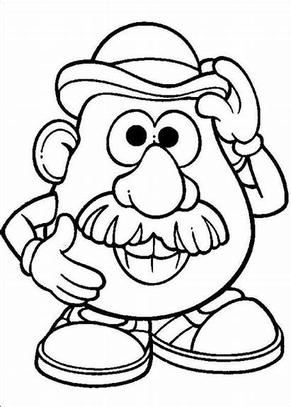 Disney Coloring Potato Pages Head Mr Listening