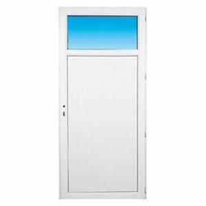 Porte Service Pvc : porte de service pvc occulus gauche 205 x 80 cm ~ Melissatoandfro.com Idées de Décoration