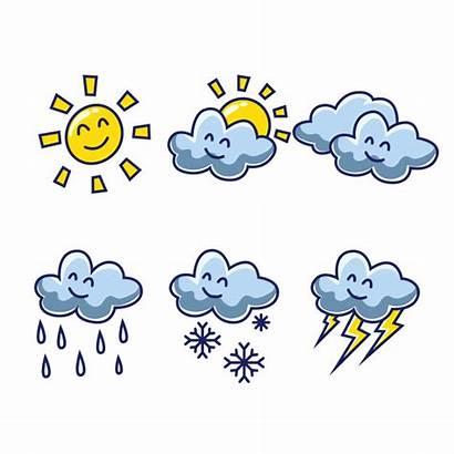 Cartoon Wetter Weer Weather Meteo Premium Tempo
