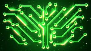 Computer Circuit Board Green Loopable Background. Abstract ...
