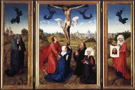 file weyden crucifixion triptych jpg wikimedia commons
