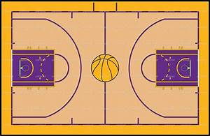 Basketball Court Drawing With Label At Getdrawings Free
