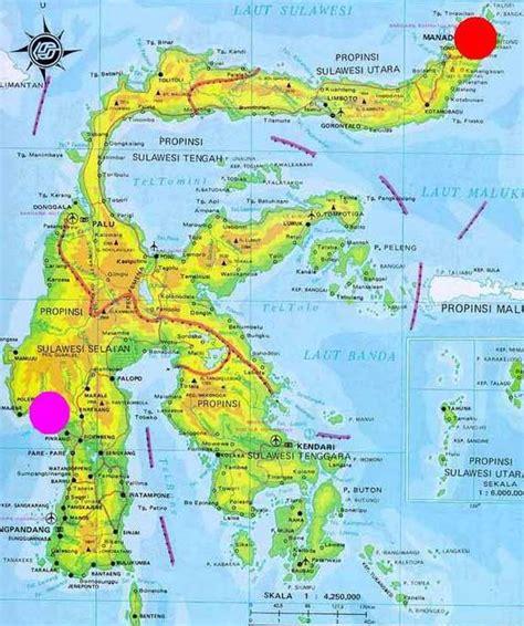 map  sulawesi island pt vip  travel bali hotels