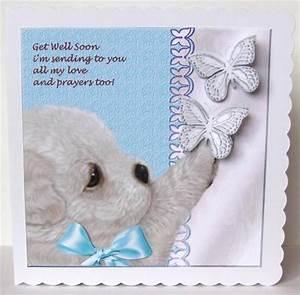 Cute Puppy Get Well Soon Verse - CUP534463_936 | Craftsuprint