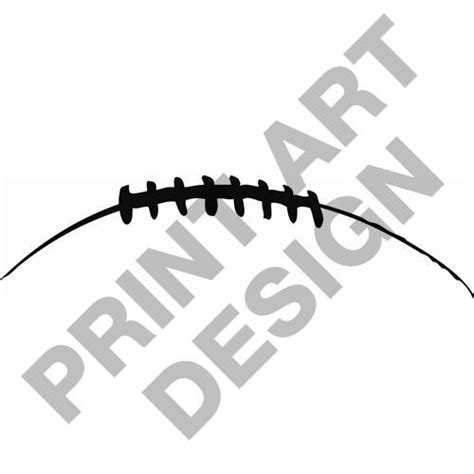 american football lace vector football laces outline clipart