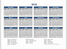 2016 Retail Accounting Calendar 445 Free Printable