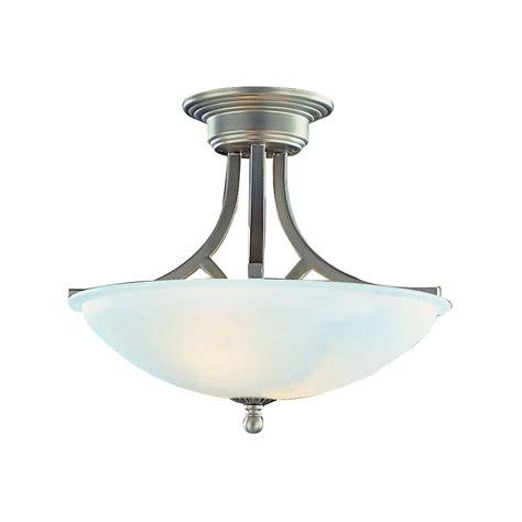 nickel semi flush ceiling lights bel air lighting cabernet collection 2 light brushed