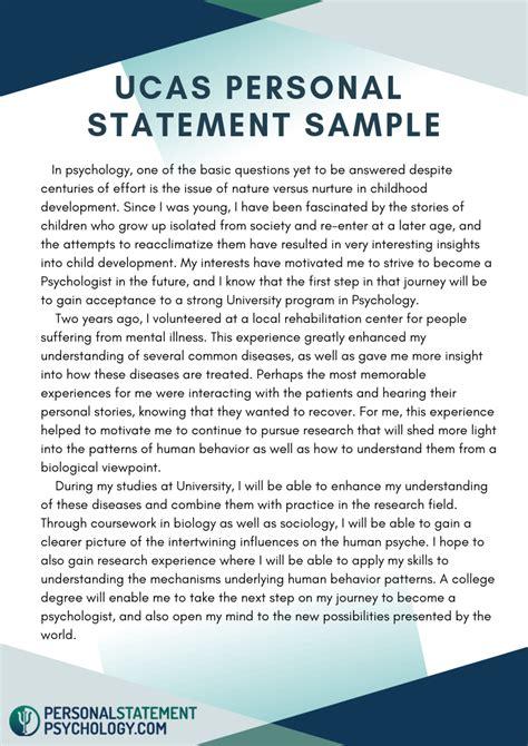 ucas personal statement sample   show