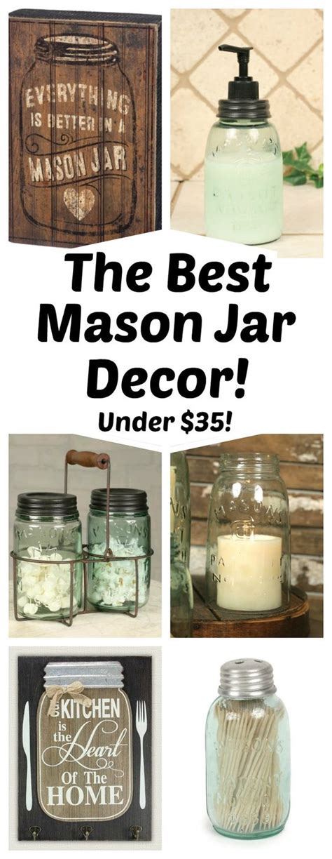 Tons Of Mason Jar Home Decor Perfect For Your Home!  Diy