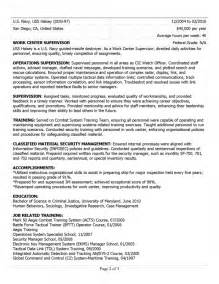 resumes for civilian sles of resumes
