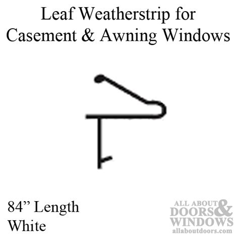 foot weather seal  casement  awning windows white