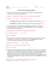 100 case studies in pathophysiology answer key pdf ebooks btn btn success, 180 essential vocabulary words for 3rd grade independent learning. Hardy Weinberg Problem Set KEY - Hardy-Weinberg ...