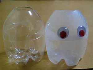 Laternen Aus Flaschen : halloween geist laternen hergestellt aus pet flaschen ~ A.2002-acura-tl-radio.info Haus und Dekorationen