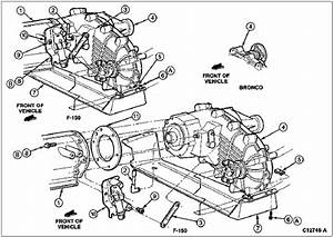 94 Ford F150  Transfer Case  Diagram  Mounting Bracket