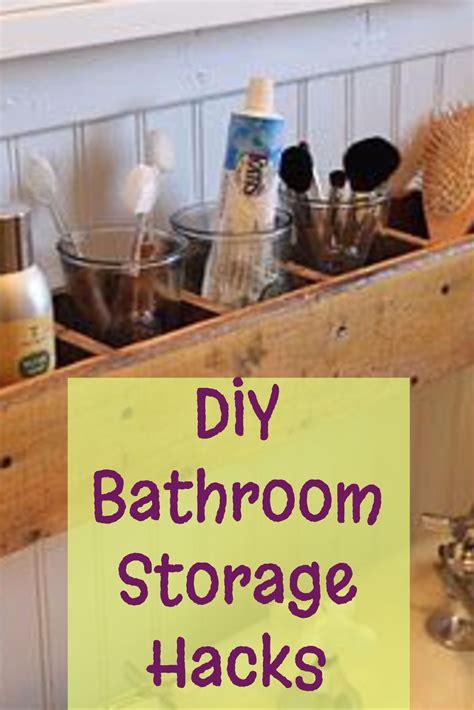 diy bathroom storage  organization hacks involvery