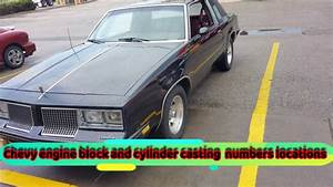 Chevy Engine Block And Cylinder Head Casting Numbers