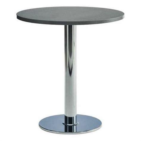 table cuisine ronde pied central table de cuisine ronde stratifiee 75cm pied central