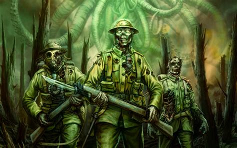 zombie soldiers zombies cool cthulhu call fantasy war wallpapers wasted land right computer wallpaperup alfa showing chevron