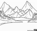 Coloring Pages Mountains Lake Landscape Landscapes Water Mountain Drawing Printable Tree Para Drawings Paisajes Easy Draw Colorear Oncoloring Paisaje Fir sketch template