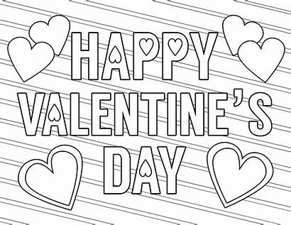 Coloring Valentine Printable Pages Happy Valentines Paper