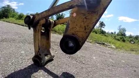 excavator bucket maintenance  boring pins bushings teeth redneck homestead youtube
