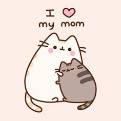 pusheen  cat  love  mom  spongeprestore