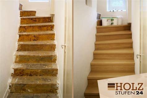 betontreppe verkleiden betontreppen holzstufen24