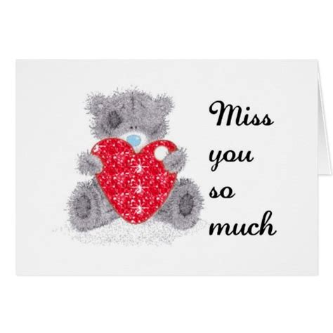 Send to someone you love a missing you card. Miss you cards | Zazzle