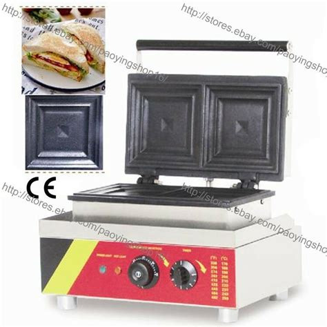 industrial sandwich toaster commercial nonstick electric 2 slice sandwich toaster
