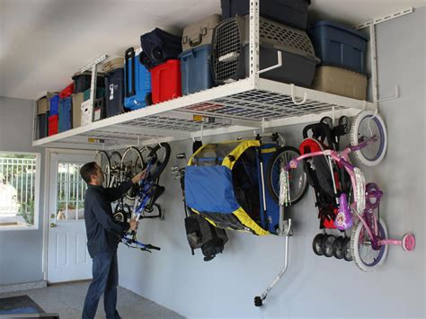 overhead garage storage systems garage storage hooks and hangers home remodeling