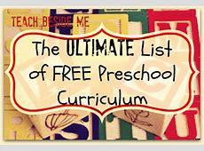 Ultimate List of Free Preschool Curriculum Resources