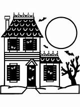Haunted Coloring Halloween Pages Printable Sheet Primarygames Monster Colouring Ebook Drawing Pdf Clipart Print Awesome Drawings Getcoloringpages Ghost Happy Entitlementtrap sketch template